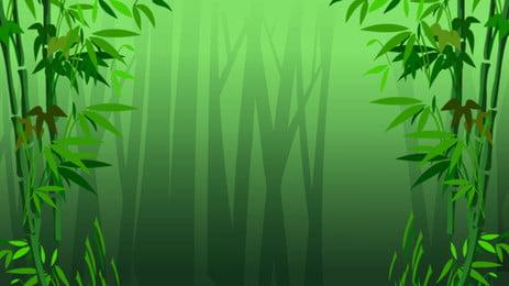 中華風、新鮮な竹林の背景素材 トラディショナル グリーン 竹 背景画像