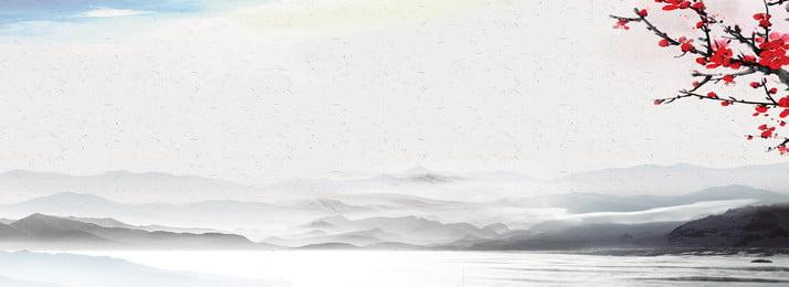 中華風インクの風景の背景 中国風の背景 古典的な背景 中国絵画の背景 背景画像