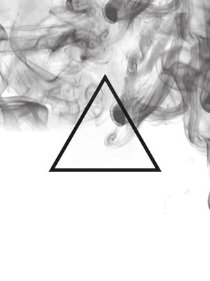 chinese style ink triangle black smoke poster element background , Smoke, Ink, Chinese Style Background image