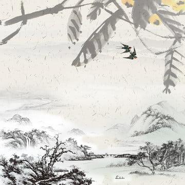 中國風山水直通車圖背景 , 中國風, 山水背景, 直通車背景 背景圖片