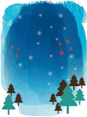 聖誕水粉雪花背景 , 雪花, 水粉, 藍色背景 背景圖片