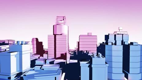 thành phố cao ốc màu nền hoạt hình, Hoạt Hình, Thành Phố, Tòa Nhà Ảnh nền