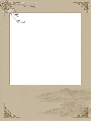 古典的な古代中国風の風景の背景 中華風 景観 クラシック 背景画像