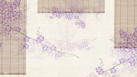 शास्त्रीय बांस रोलर अंधा बैंगनी सुरुचिपूर्ण फूलों की शाखाओं पृष्ठभूमि, क्लासिक, बाँस का रोलर अंधा, बैंगनी पृष्ठभूमि छवि