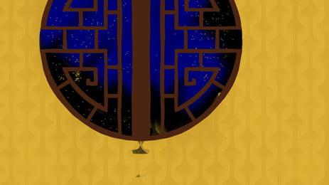 黃色花紋牆面上的古典花格窗戶, 黃色, 花紋, 牆面 背景圖片