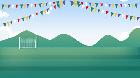 彩旗下的微立體足球場背景素材 彩旗 足球場 遠山背景圖庫