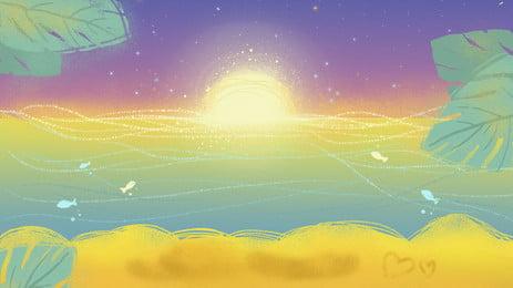 カラフルなコイルビーチ背景素材 色 カラフルな グラデーション 背景画像