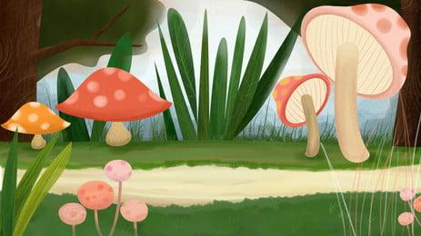 Rừng đầy màu sắc vật liệu nền đẹp Nấm Rừng nấm Nấm đầy Nấm Rừng Sắc Hình Nền