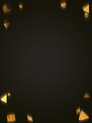 cool black gold solid geometric technology background , Cool Black Gold, Solid Geometric Background, Black Background Background image