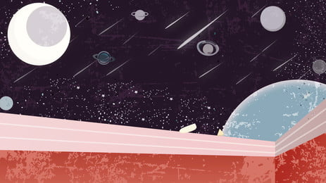 Hành tinh vũ trụ minh họa nền Vũ Trụ Hành Hình Nền