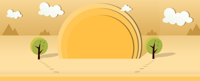 creative evening banner paper cut wind background, Creative, Simple, Desert Color Background image