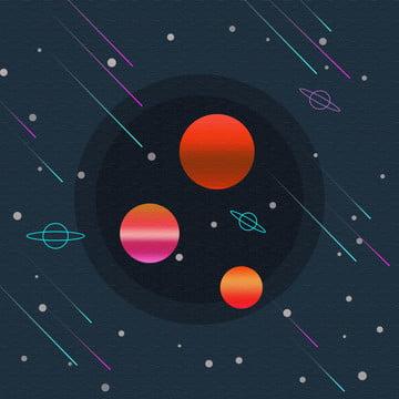 クリエイティブ星空宇宙イラストスタイルの背景素材 , 惑星, 球, グラデーション 背景画像