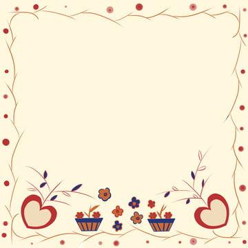 可愛桃心小花背景 , 可愛, 小花, 桃心 背景圖片
