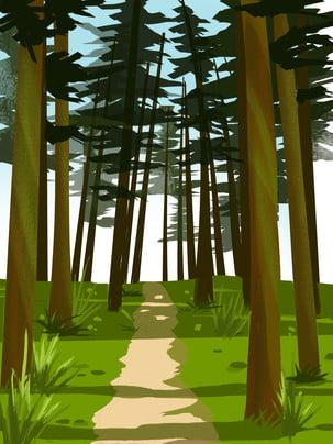 Màu xanh đậm nghệ thuật nền nước sơn đường rừng thiết kế Nền Rừng Bức Hình Nền