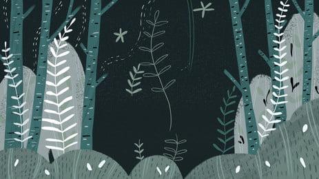 深緑林 アニメ 林 深い緑 背景画像
