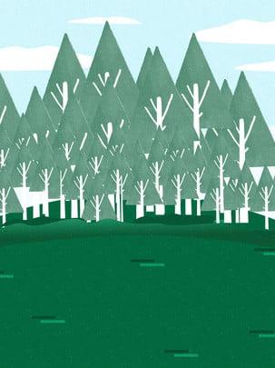 màu xanh đậm đầy đủ rừng đồng cỏ nền , Đồng Cỏ, Rừng, Phim Hoạt Hình Ảnh nền