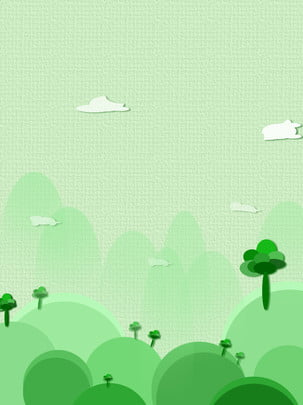 ディープマウンテンファンタジーコンセプトミニマルなコンセプトの漫画の背景 , グリーン, 深い山, 構想 背景画像