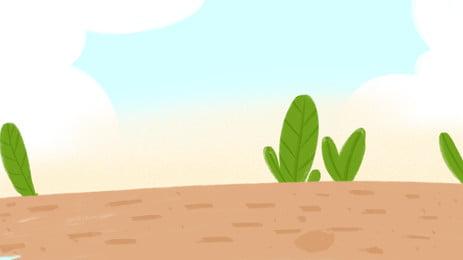 desert background minimalist design, Cartoon, Hand Painted, Desert Background Background image