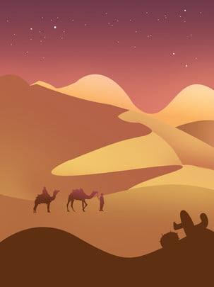 desert camel at night , Night, Summer, Desert Background image