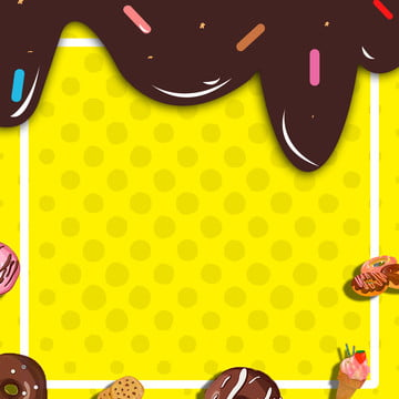 sobremesa sorvete de chocolate fundo amarelo cartaz , Sobremesa, Chocolate, Sorvete Imagem de fundo