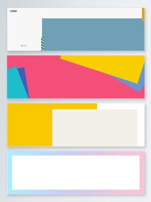 Phong cách châu Âu và mỹ đơn giản màu nền gradient biểu ngữ Biểu Ngữ đơn Hình Nền