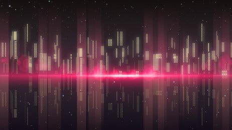 Ảo thành phố ảo vật liệu nền banner Sáng Tạo Độ Hình Nền