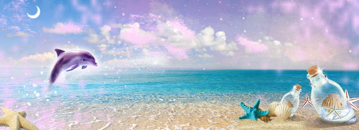 काल्पनिक डॉल्फिन तारों वाली सागर पृष्ठभूमि, सपना, तारों वाला आकाश, सागर पृष्ठभूमि छवि