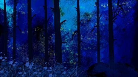 काल्पनिक परी वन विज्ञापन पृष्ठभूमि, विज्ञापन की पृष्ठभूमि, वन, रात पृष्ठभूमि छवि
