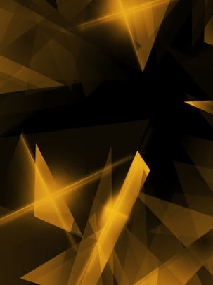 fashion irregular geometric black gold poster background , Dream, Background, Irregular Triangle Background Background image