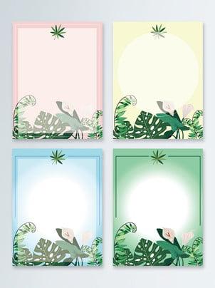 花卉棕櫚葉背景 , 棕櫚葉, 熱帶植物, 花卉 背景圖片