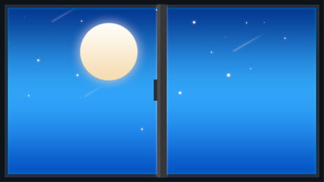 Fresh And Simple Window Scenery Advertising Background Background,fresh,outside The Window,window,moon,star,night,home, Fresh And Simple Window Scenery Advertising Background, Background, Fresh, Background image