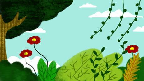 Mùa thu tươi xin chào cây hoa lớn Hoa Cây To Hình Nền