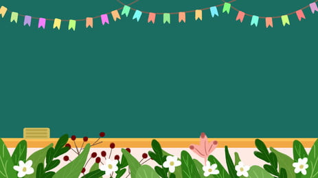 Fresh Bunting Blackboard Teachers Day Background Material, Bunting, Teachers Day, Teachers Day Background, Background image