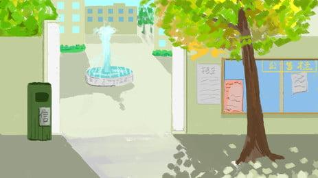 Справочные материалы о начале сезона в кампусе фонтан Доска объявлений Открытие сезона Начальная фон Плакат обращается Фоновое изображение