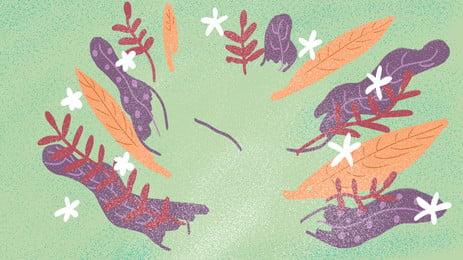 新鮮なカラー植物広告の背景 小花 広告の背景 手絵 背景画像