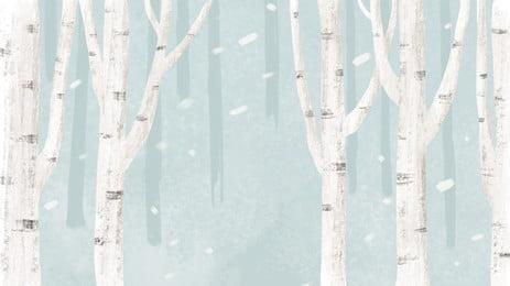 Свежий вылечить зимний лес дизайн фона Свежий фон излечение Рисованной покрашенный Зимний фон Лесной баннера PSD материал Фоновое изображение