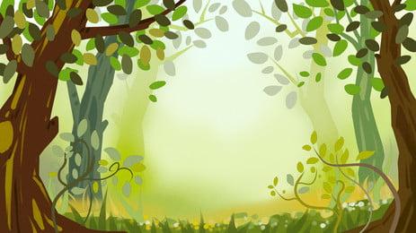 nền quảng cáo rừng tươi, Nền Quảng Cáo, Tươi, Tự Nhiên Ảnh nền