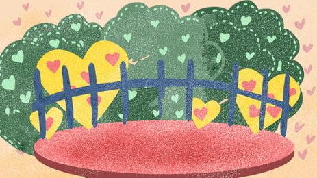 新鮮な庭の塀の広告の背景, 広告の背景, フェンス, 愛してる 背景画像