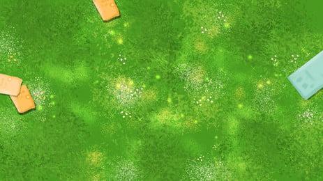 新鮮な草のバナーの背景素材 グリーン グラスランド 新鮮な 背景画像
