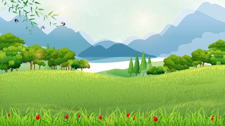 fresh grass landscape tourism background, Grassland, Outdoor Tourism, Landscape Background image