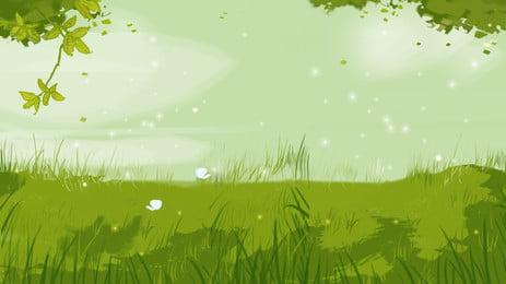 新鮮な草の芝生屋外漫画の背景デザイン 新鮮な背景 漫画の背景 草の背景 背景画像