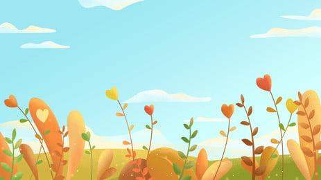 新鮮な草の小さな花の広告の背景 広告の背景 新鮮な 植物 背景画像