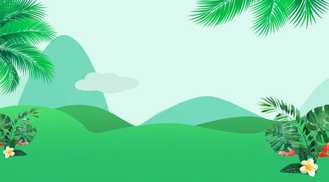 新鮮な緑の芝生と花のbanerの背景素材 春の花 グリーン グラスランド 背景画像