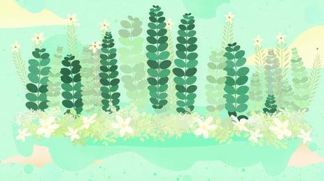 新鮮なグリーンリーフバナーの背景素材 緑の葉 葉っぱ ウッズ 背景画像