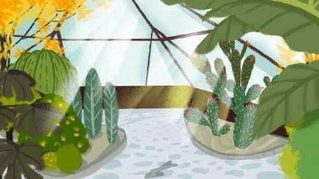 新鮮な手描きのフラワールームの広告の背景 広告の背景 植物 フラワーハウス 手描き カエデの葉 サボテン 日光 軽い 広告の背景 植物 フラワーハウス 背景画像