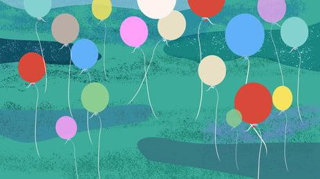ताजा साहित्यिक गुब्बारा विज्ञापन पृष्ठभूमि, विज्ञापन की पृष्ठभूमि, गुब्बारा, घास का मैदान पृष्ठभूमि छवि