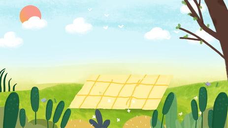 新鮮な屋外の緑の植栽太陽の背景素材 アウトドア グラスランド グリーンプラント 背景画像