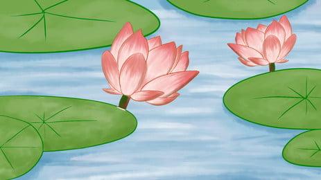 Văn phòng tươi sơn lễ hội mùa hè vật liệu nền lotus pond Hoa Sen Màu Hình Nền
