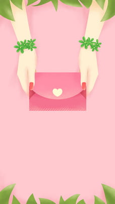 Livro de humor de amor rosa fresco material de fundo de Tanabata Carta de amor Pink Fundo PSD Download De Imagem Do Plano De Fundo