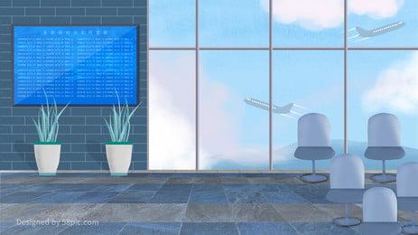 Fresh minh họa sân bay du lịch nền Tươi Nền du lịch Nền Hình Minh Fresh Hình Nền